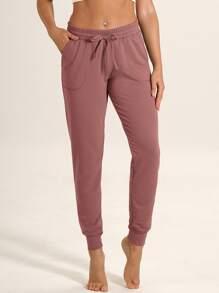 Drawstring Waist Pocket Sports Pants