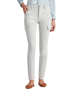 Favorite Daughter for Joe's The Charlie Skinny Cargo Jeans in Pale Gray