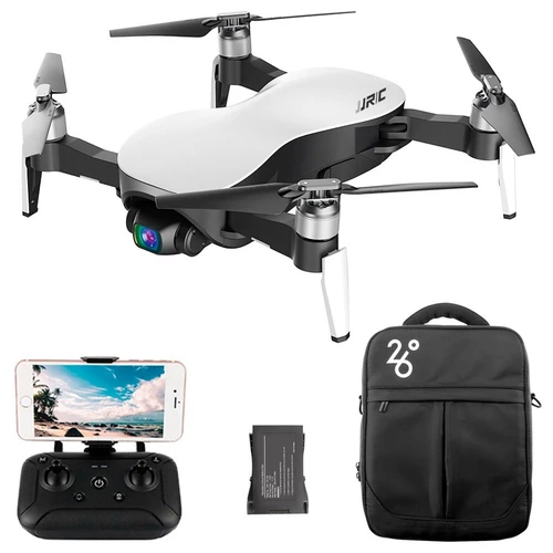 JJRC X12 4K GPS RC Drone White Three Batteries with Bag