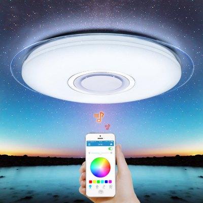 MAXLAHO LXD - TQ - 52 - YK Modern LED RGB Dimmable 52W APP Remote Control Bluetooth Music Bedroom Smart Ceiling Light