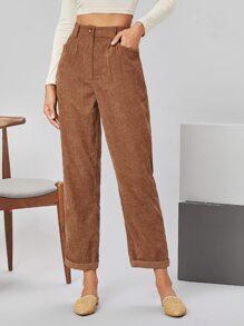 Rolled Hem Cord Pants