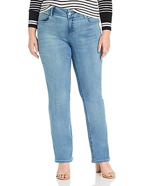 Seven7 Jeans Plus Lia Tummyless Micro-Bootcut Jeans in Gypsy