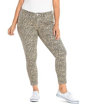 Slink Jeans Plus Skinny Jeans in Camo Leopard