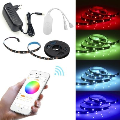 Smart Wireless APP Epoxy Waterproof RGB 5050 Flexible Lamp with 1M 30 LED 5V EU
