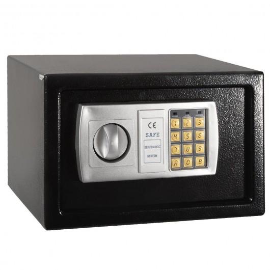 "12.5"" Black Electronic Keypad Digital Lock Safe Box"