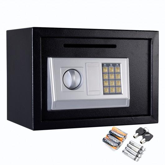 "Black 14"" Digital Depository Drop Cash Safe Box"