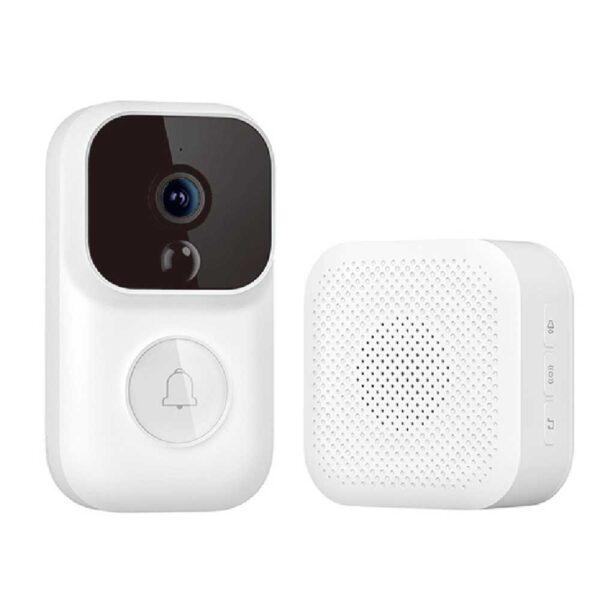 Dingling S Enhanced Version Smart Wireless Doorbell Set White