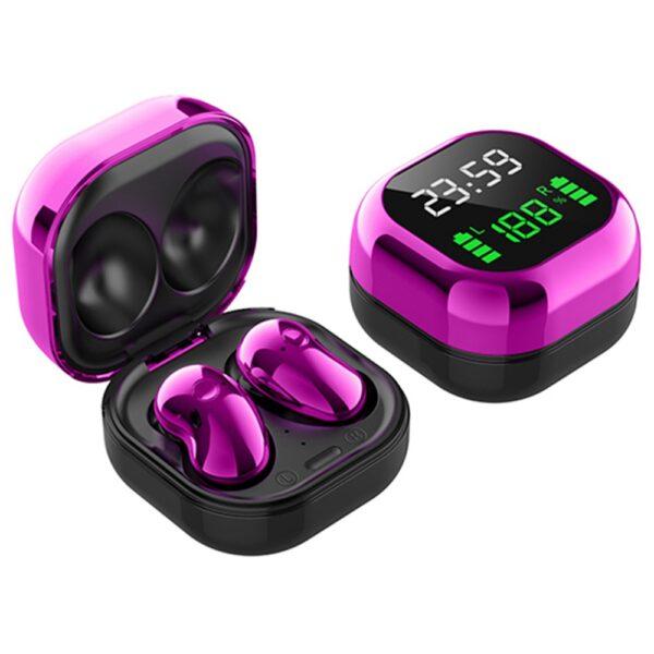 S6 Plus Bluetooth 5.1 TWS Earphones Purple