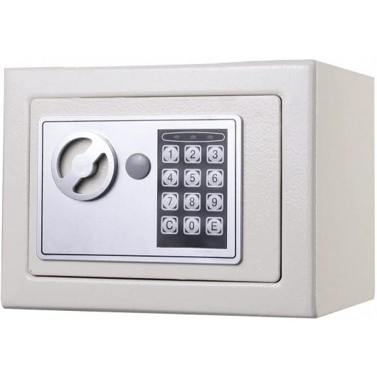Small Digital Electronic Safe Box-White