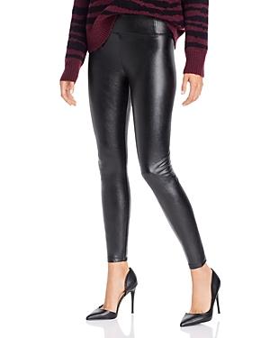 Aqua High-Rise Faux Leather Leggings - 100% Exclusive