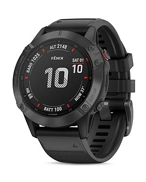 Garmin Fenix 6 Black Silicone Strap Smartwatch, 47mm