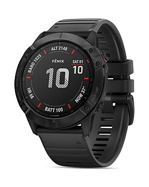 Garmin Fenix 6X Black Silicone Strap Smartwatch, 51mm