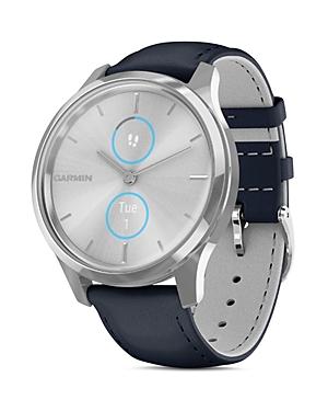 Garmin Vivomove Luxe Leather Strap Touchscreen Hybrid Smartwatch, 42mm