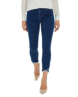 JEN7 by 7 For All Mankind Frayed Hem Skinny Ankle Jeans in Amalfi