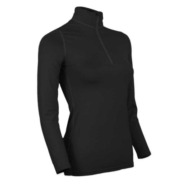 PolarMax Comp 3 Zip Mock Womens Lengthy Underwear High
