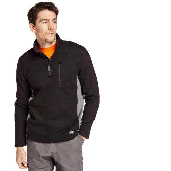 Timberland Men's Studwall Quarter Zip Textured Fleece Top